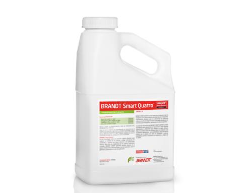 BRANDT SMART QUATRO PLUS, nuestro singular suplemento foliar compatible en mezcla con herbicidas post emergentes